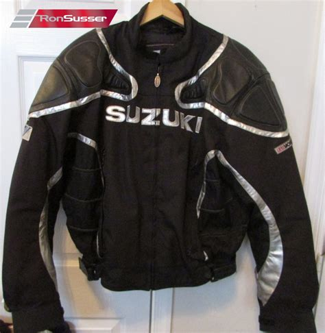 Suzuki Racing Jacket Suzuki Racing Black Leather Motorcycle Jacket Size
