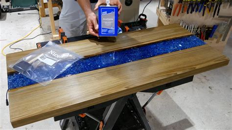 how to epoxy a table how to an epoxy resin river table hoffpauir