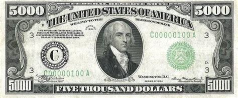 Mba In 1000 Usd by Does The United States Any Dollar Bills Above