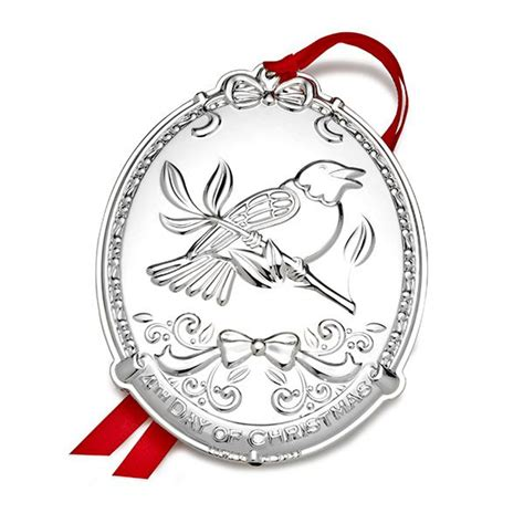 2015 twelve days of christmas silver ornament towle