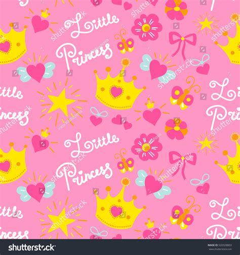 birthday pattern pink vector pink little princess pattern vector sweet stock vector