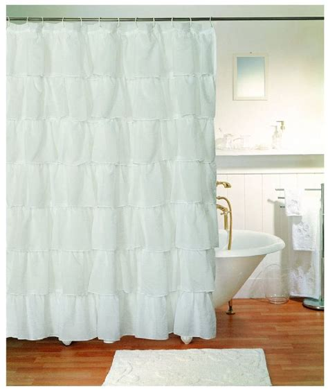extra long ruffle shower curtain 17 images about i love ruffles on pinterest ruffled shower curtains ruffled tablecloth and