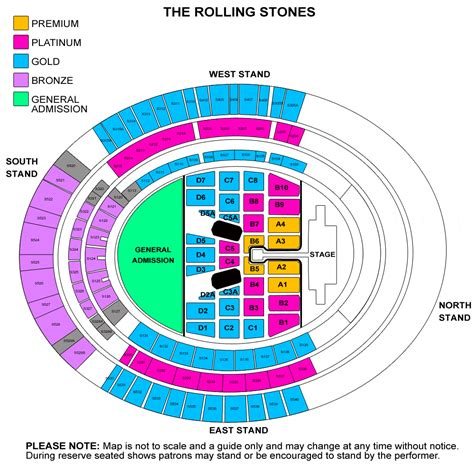 Rod Laver Floor Plan Rolling Stones Touring Australia And Nz 2014 Bigfooty