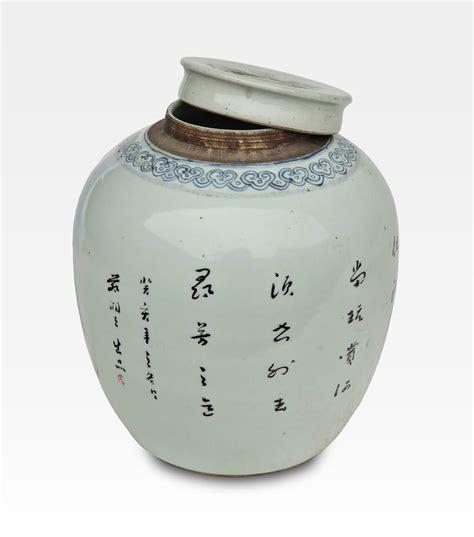 in un vaso di porcellana vaso cinese dipinto con coperchio porcellana cod 0016