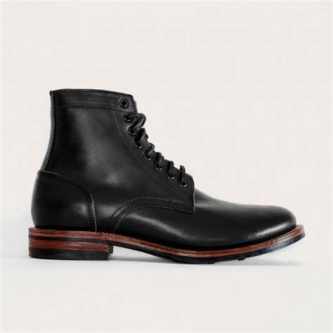 oak bootmakers black dainite trench boot footwear