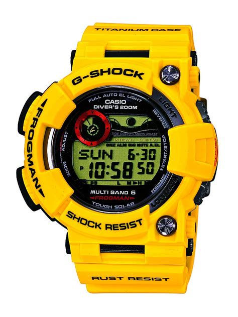 casio g shock gwf t1030e 9jr frogman photos and specifications gwft1030e 9jr