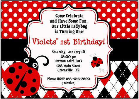 Ladybug Birthday Card Template by Template Ladybug Baby Shower Invitations