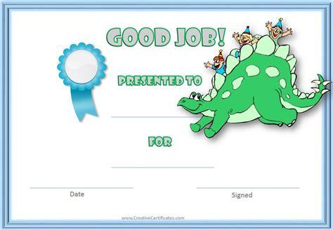 Free Dinosaur Certificate   Customizable & Printable
