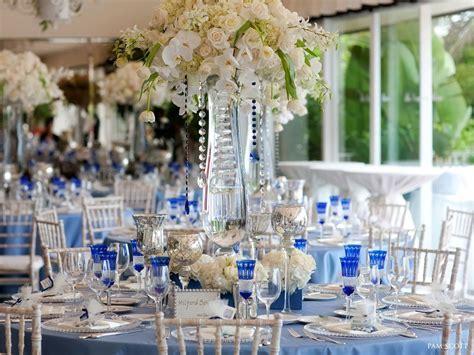 Blue And Silver Wedding Centerpieces Cobalt blue white