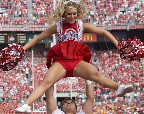 college cheerleader uniform malfunction ohio state cheerteam cheerleaders college pinterest