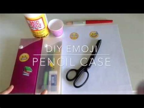 How To Decorate A Pencil Pouch by Diy Emoji Pencil