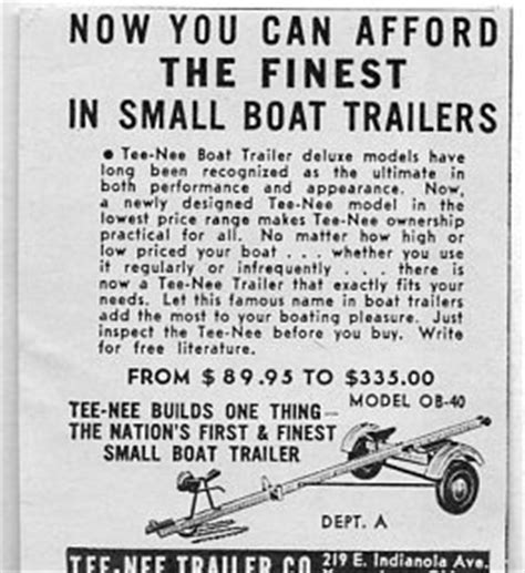 boat trailers youngstown ohio 1953 vintage ad tee nee boat trailers youngstown ohio ebay