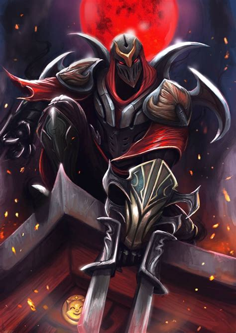 zed league  legends fan art art  lol