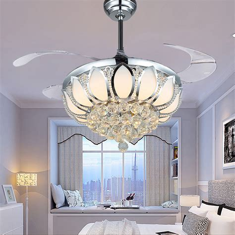 crystal chandelier ceiling fan aliexpress com buy modern ceiling fan crystal ventilador