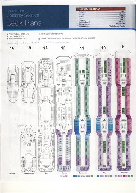 celebrity solstice floor plan celebrity solstice deck plan