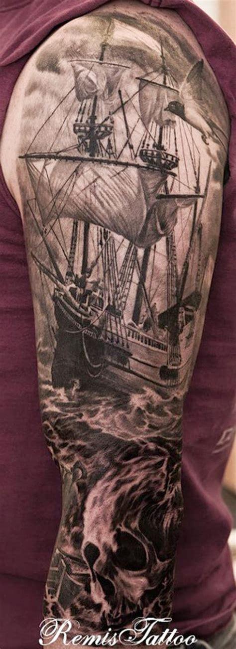 black and grey vire tattoo tatuajes de veleros y barcos belagoria la web de los
