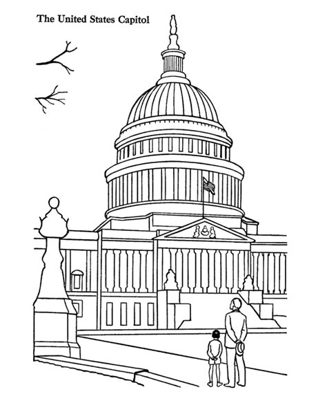 United States Capitol Building Coloring Page | us capitol building coloring pages us history coloring