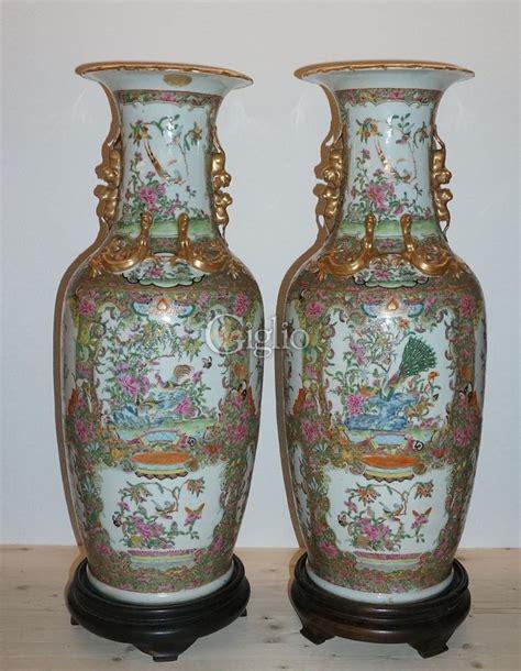 vasi cinesi antichi antiquariato coppia di vasi cinesi di porcellana vendita valutazione