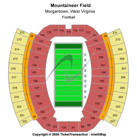 wvu seating chart mountaineer field at milan puskar stadium tickets
