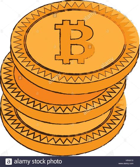 Bitcoin Cryptocurrency bitcoin cryptocurrency stack icon stock vector
