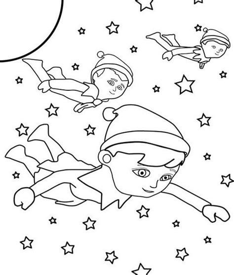 elf on the shelf doll coloring page elf on the shelf outer space coloring sheet