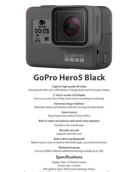 """GoPro Hero 5 Black 4K Ultra HD LCD 2"""" Waterproof Digital"""