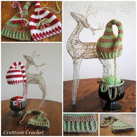free pattern elf hat christmas hats for newborn to adult free crochet patterns