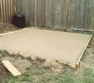 project backyard pouring a concrete pad caves summer