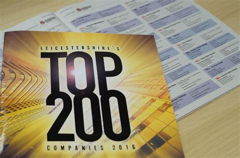 Of Leicester Mba Ranking 2016 by Leicestershire Top 200 Nylacast Ranked 146th Top Company
