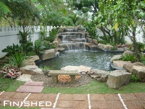 backyard waterfall designs top 17 brick rock garden waterfall designs start an