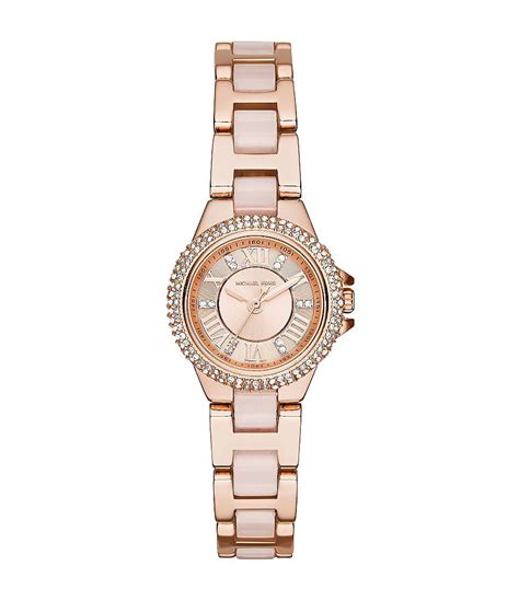 michael kors camille gold and blush