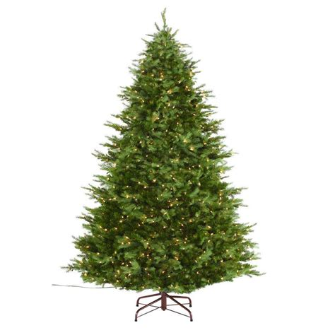 martha stewart living 7 5 ft indoor pre lit nordic spruce