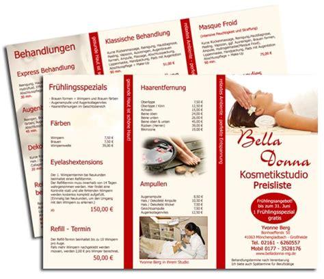 Muster Angebot Logoentwicklung Kosmetik Flyer Design Kosmetik Handzettel Erstellen Inkl Druck