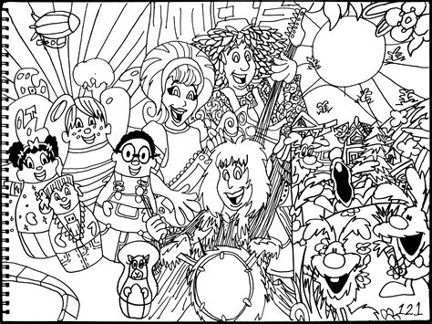 bunnytown coloring pages higglytown heroes the doodlebops bunnytown by