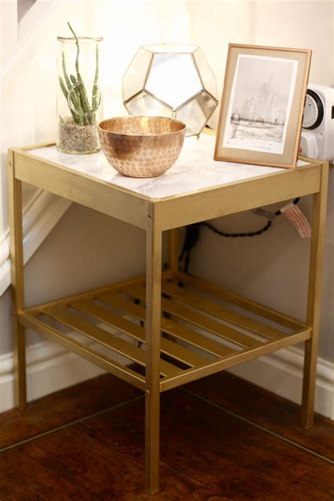 ikea table hack diy ikea bedside table hack gold marble rebel
