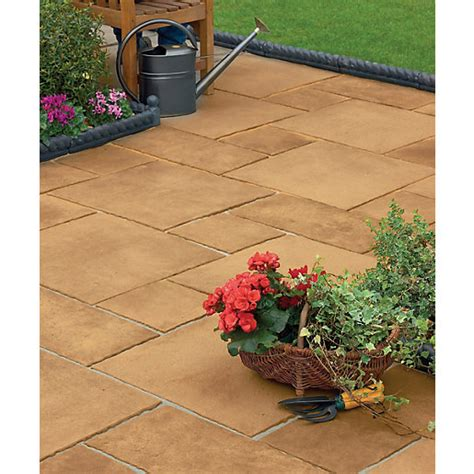 Travis Perkins Patio Slabs by Marshalls Firedstone Paving Patio Pack 5 M2