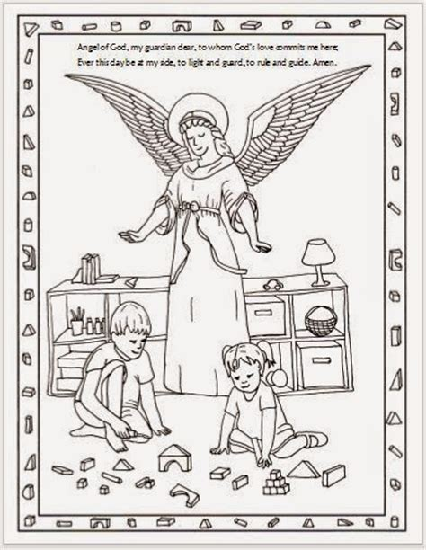 coloring pages of guardian angels drawn2bcreative free guardian angel coloring page