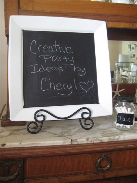 diy chalkboard message board creative ideas by cheryl diy chalkboard platter