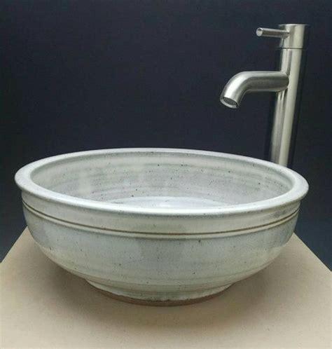 Handmade Pottery Vessel Sinks - handmade 15 1 4 quot x 5 1 2 quot high pottery vessel sink white