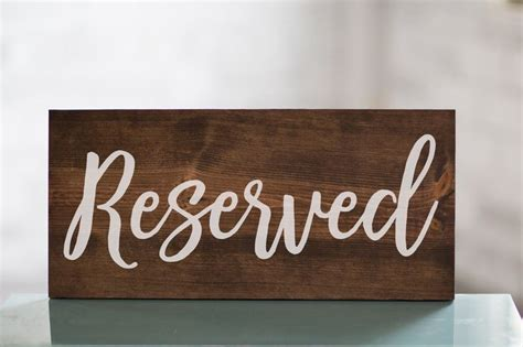 wooden reserved table signs best 25 reserved wedding signs ideas on