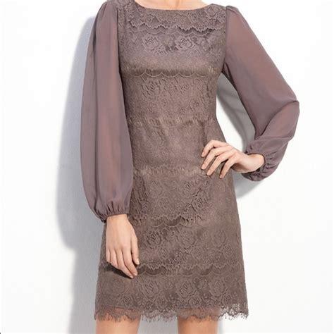 Dress Grey Ks eliza j eliza j taupe bell sleeve lace overlay dress