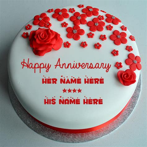 Wedding Anniversary Greeting Cake by Write Your Name On Anniversary Cakes Pictures Edit