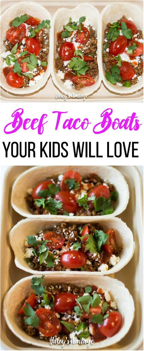 beef taco boats recipe easy beef taco boats your kids will love haley s vintage