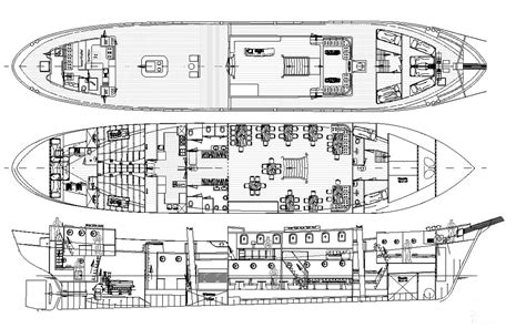 "Drawings: Classic Brig ""Mercedes""   Hugo Hein & Partners"