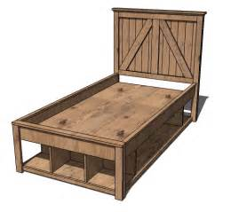 Bed Storage Frame Storage Bed Plans Bed Plans Diy Blueprints