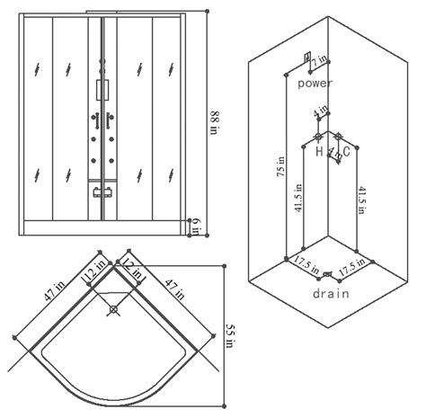shower dimensions two person shower dimensions
