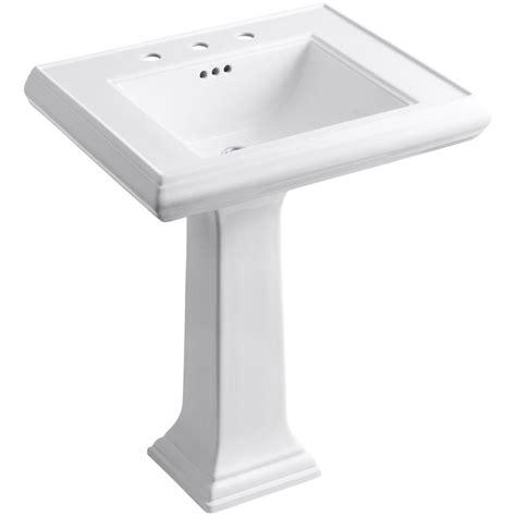 kohler bathroom sink drain kohler memoirs classic ceramic pedestal bathroom sink in