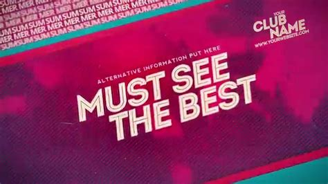 template after effects party summer music party after effects template youtube