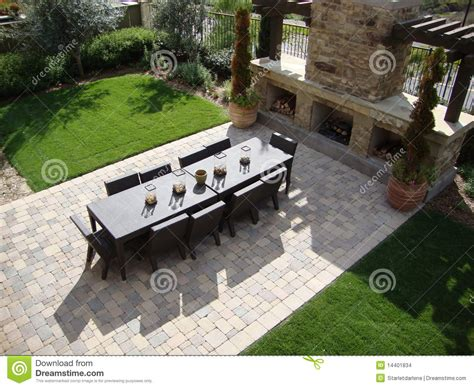 Beautiful Patios outdoor patio and fireplace stock images image 14401834