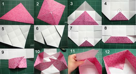 How To Make A Paper Box With A Lid - how to make a paper box craft paper scissors